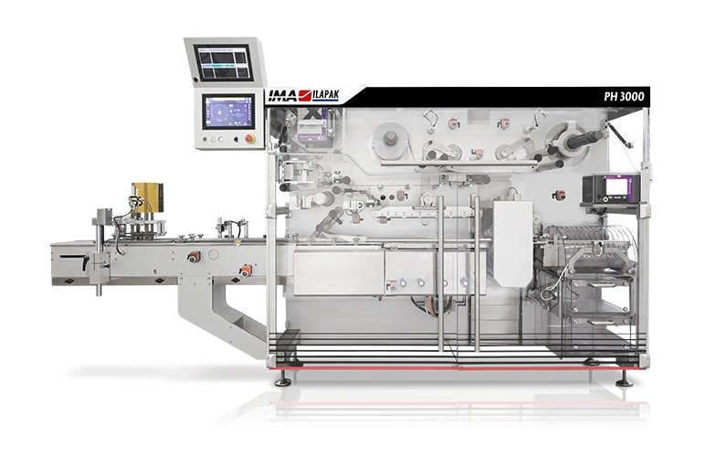 Ima Ilapak PH 3000 horizontal high speed flow wrapper packaging machine for pharma and pharmaceutical product