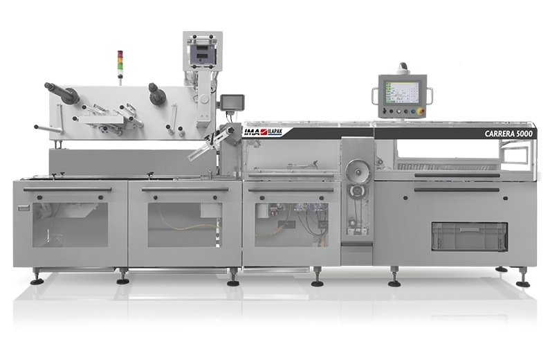 Ima Ilapak Carrera 5000 horizontal flow wrap packaging machine form fill and seal with rotatable jaws flow pack high speed